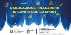 """Avvio 1° modulo del corso """"L'educazione finanziaria scende in campo con lo sport"""""""